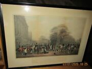 1-rare Engraving The Meet At Badminton Hand Colored Original By William Giller