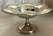 Fancy Ornate Vintage Bailey Banks And Biddle Sterling Silver Compote