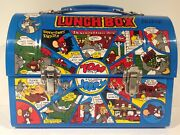 1981 Vintage Japanese Blue Tom And Jerry Metal Dome Lunch Box From Japan Rare
