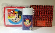 1980's Mickey Mouse Zojirushi Lunch Box And Thermos From Japan Near Mint Unused