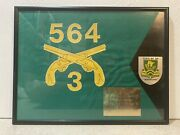 Us Army 709th Military Police Battalion Framed Guidon Flag / Presented To 2lt