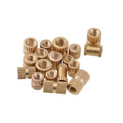 For Plastic M1.4 M1.6 M2 M3-m8 Brass Inserts Embedded Knurl Threaded Nut Part