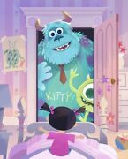 2021 Disney Parks Joey Chou Le Canvas Pixar Monster's Inc Sulley Boo Mike