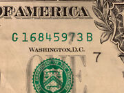 Error Silver Ink On Serial 1995 1 Dollar Bill Very Rare And 1-of-a-kind Error