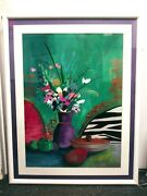 Large Lee White Original Painting Still Life 21 X29 Framed Double Matted 29x37
