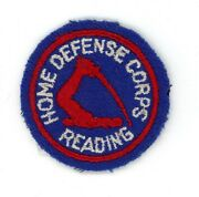 Ww2 Wwii Us Home Front Home Defense Corps Reading Ma Patch Ssi 2 Cap Device