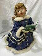 Vintage Caroling Angel Tree Topper Or Table Decoration 12andrdquo X 12andrdquo