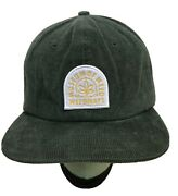 Museum Of Weed Weedmaps Baseball Cap Hat New Without Tags Green Corduroy