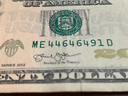 2013 20 Dollar Bill Fancy Quad 4andrsquos Cool Factor. Rare And Hard Find