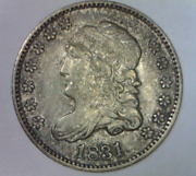 1831 Capped Liberty Draped Bust Half Dime Extremely Fine-au Quality High Grade