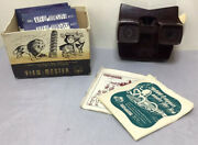 Rare/vintage Sawyers Viewmaster 1951 Brown Model 3d Viewer W. 10x Reels