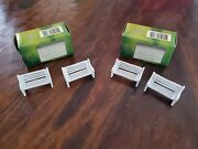 Vitreville Village 4 Park Benches And 2 Arch Entry 6 Piece Lot Painted Pewter New