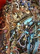 Huge 10lb Vintage To Now All Glass Jewelry Lot All Wearable/resalable No Junk