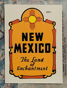 Early 1950's New Mexico Travel Water Decal Vintage Auto Luggage Camper Old Car