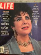 Life Magazine Elizabeth Taylor Hopes And Fears And Brain Surgery April 1997