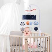 10xbaby Musical Crib Mobile Space Theme Infant Bed Decoration Toy