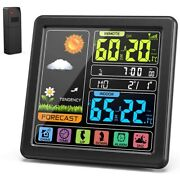 10xwireless Weather Station Indoor Outdoor Thermometer Hygrometer With Sensor