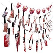 10xhalloween Decorations Party, 5 Set Bloody Party Garland Props Banner W3l5