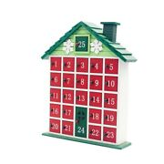 20xchristmas Wooden House Countdown Advent Calendar Christmas Storage Box T3p2