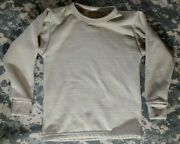 Kids Polartec Gen 3 Mid Wt L2 Cold Weather Waffle Ecws Shirt Pullover 8-10 Yrs