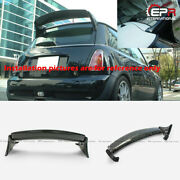 For R50 R53 Mini Cooper Aqr Style Forged Carbon Look Rear Roof Spoiler Wing Trim