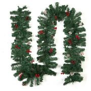 20xchristmas Garland Wreath With Light Xmas Home Party Christmas Decoration