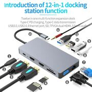20xusb C Hub 12 In 1 Multiport Adapter With Pd Power Delivery 4k