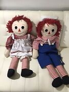 34in Raggedy Ann And Andy Doll Set Vintage Antique Dolls
