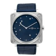 Bell And Ross Instruments Brs-ea-st/scr Blue Dial Ladyand039s Watch Genuine Freesandh