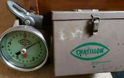 Vintage Commercial Chatillon Scale And Force Measuring 5000 X 50 Lbs. Model Td-5