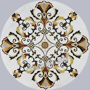 36 Inches Royal Look Marble Dinning Table Top Inlay Kitchen Table Home Assents