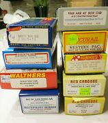 Vintage Lot Of 9 Ho Cars Branchline, Roundhouse, Walthers, Red Caboose, More