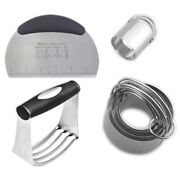 10xstainless Steel Pastry Blender Dough Cutter Biscuit Cutter Set Professional