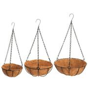 10x3pc Idyllic Coconut Palm Hanging Basket Cafe Wall Top Small