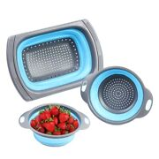 10x3 Pack Collapsible Sink Colanders Silicone Kitchen Strainers With Non-slip