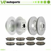 Brake Pads And Rotors Front Rear For Toyota Highlander 2004-2007 Drilled