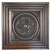 Nice Antique English Carved Chestnut Architectural Salvaged Geometric Panel Door