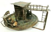 Ktc Copper Train Wind Up Antique Music Box I've Been Working On Railroad B82-27