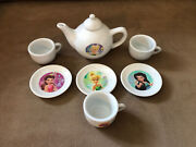 Disney Fairies Tinkerbell And The Great Fairy Rescue Porcelain Tea Set- 7pc Used