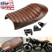 Motorcycle Brown Hump Cafe Racer Seat For Suzuki Gs400 550 Gt750 T125 T305 500