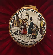 The Carol, Christmas Box 1982. Victorian Carolers, Halcyon Days. Mint Condition