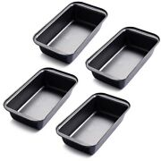 10x4pcs Rectangular Loaf Pan Non-stick Bread Baking Tray Toast Mold Loaf Pastry
