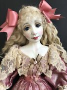 Ooak Vintage Porcelain Collectible Doll By Artist Vicki Gunnell