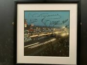 Lat Le Mans 1965 112x112 Framed Photo The Pits At Night Multi Signed By Winners