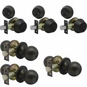Set Of 3 Combo Entry Entrance Keyed Door Knob Lock Set Door Knobs And Double Cy...