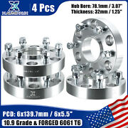 4pcs 6x5.5 1.25and039and039 Wheel Spacers Adapters For Chevy Silverado 1500