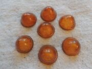 Lot Of Vintage Amber Bl 25, Glass Bee Hive Lens Saf-t-ray Lights Automotive Auto