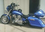 Honda Vtx Stretched Angled Saddlebags Extended Replacement Fender And Stock Lids