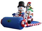 6 Foot Christmas Inflatable Snowman Penguin Sleigh Sled Blowup Yard Decoration