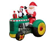 5 Foot Christmas Inflatable Santa Claus Tractor Penguin Blowup Yard Decoration